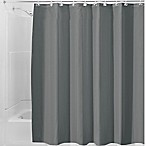 InterDesign® Waterproof Fabric Shower Curtain Liner in Charcoal
