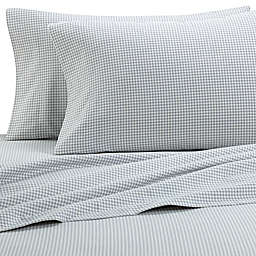 The Seasons Collection® HomeGrown™ Houndstooth Flannel Sheet Set in Grey
