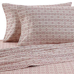 The Seasons Collection® HomeGrown™ Tilework Flannel Sheet Set in Red