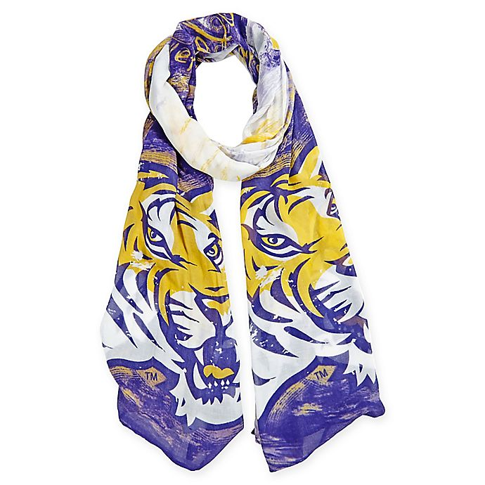 Alternate image 1 for Louisisana State University Watercolor Woman's Scarf