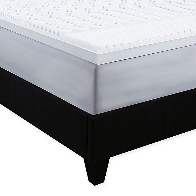 Alternate image 1 for Independent Sleep Convoluted Memory Foam Queen Mattress Topper