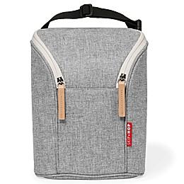 Skip*Hop® Grab & Go Double Bottle Bag in Grey Melange