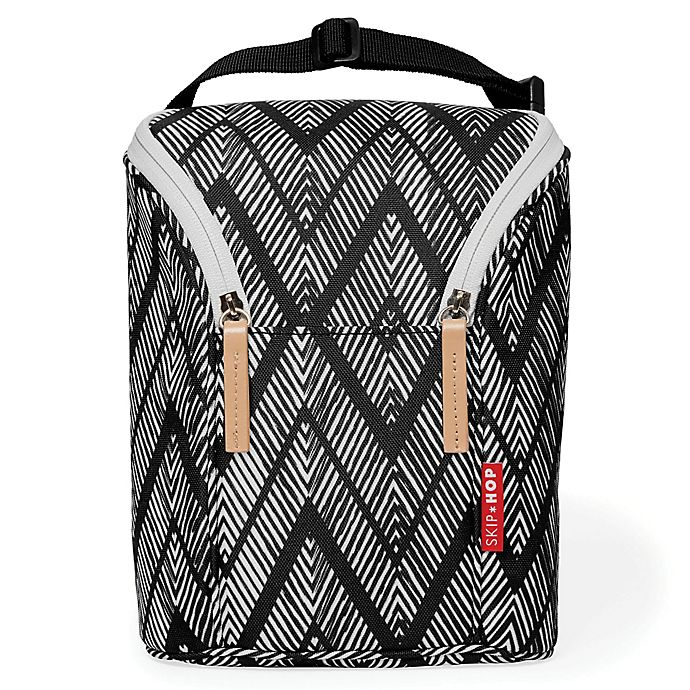 Alternate image 1 for Skip*Hop® Grab & Go Double Bottle Bag in Zebra