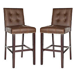 Safavieh Faux Leather Upholstered Stools (Set of 2)
