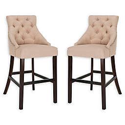 Safavieh Linen Upholstered Stools (Set of 2)