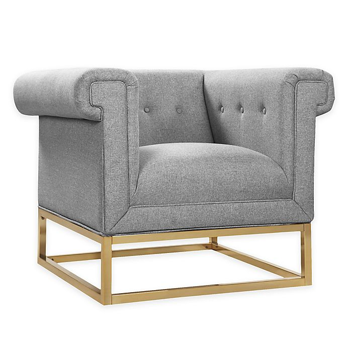 Alternate image 1 for Chic Home Linen Upholstered Chair in Grey