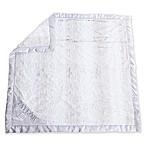 Zalamoon Strollet Plush Blanket with Satin Trim in White