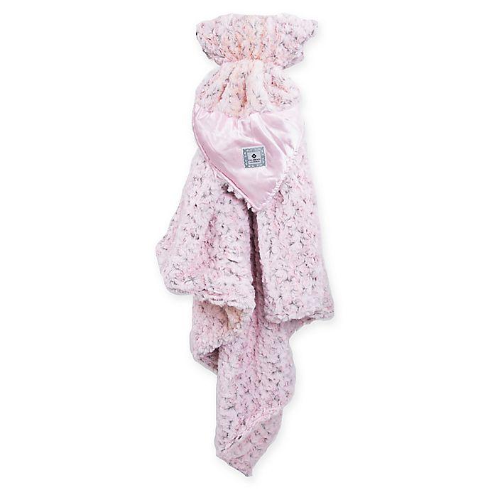 Alternate image 1 for Zalamoon Stroller Plush Blanket with Satin Trim in Pink
