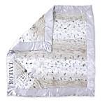 Zalamoon Plush Security Blanket in Grey/White