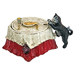 Design TOSCANO® Fish For Cat Cast Iron Mechanical Bank