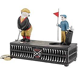 Design TOSCANO® Golfer Cast Iron Mechanical Bank