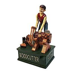 Design TOSCANO® Woodcutter Cast Iron Mechanical Bank