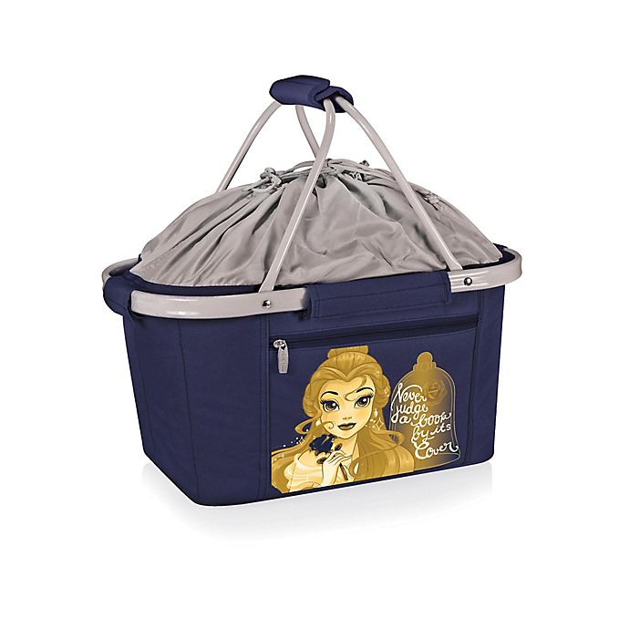 Alternate image 1 for Picnic Time® Disney® Beauty & the Beast Metro Basket Cooler Tote in Navy