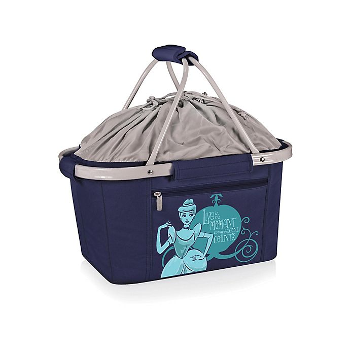 Alternate image 1 for Picnic Time® Disney® Cinderella Metro Basket Cooler Tote in Navy