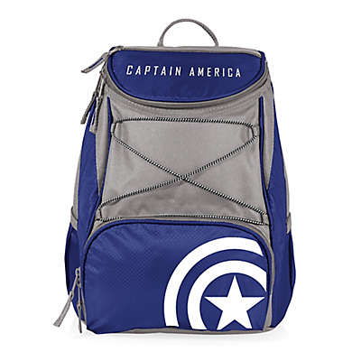 Picnic Time® Marvel® Captain America PTX Cooler Backpack in Navy