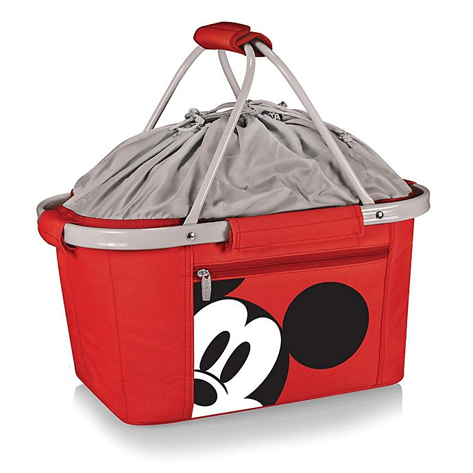 Alternate image 1 for Picnic Time® Disney® Mickey Mouse Metro Basket Cooler Tote in Red