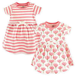 Touched by Nature 2-Pack Organic Cotton Dresses in Light Pink