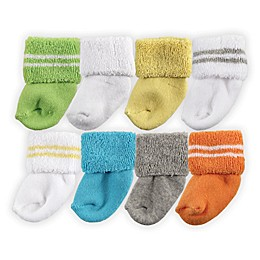Luvable Friends® 8-Pack Assorted Socks in Yellow