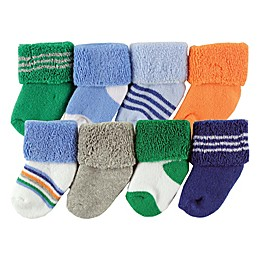 Luvable Friends® 8-Pack Assorted Socks in Blue