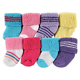 Luvable Friends® 8-Pack Assorted Socks in Pink