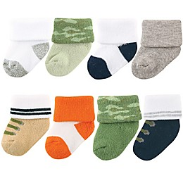 Luvable Friends® 8-Pack Camo Socks in Green
