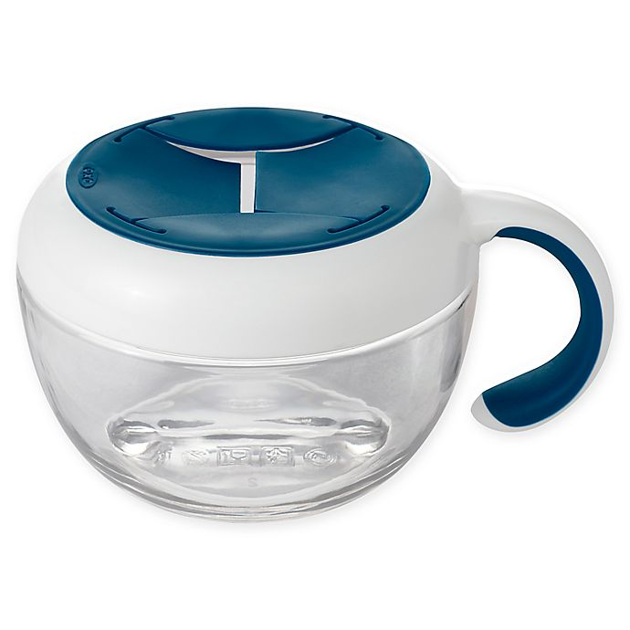 Alternate image 1 for OXO Tot® Flippy Snack Cup with Travel Cover in Navy