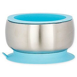 Avanchy Stainless Steel Baby Bowl with Silicone Suction Ring and Lid
