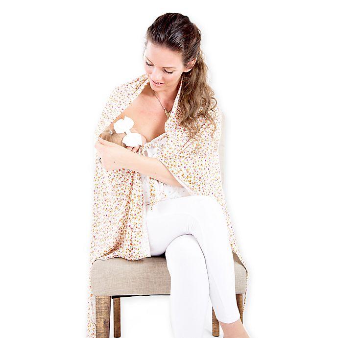 Alternate image 1 for Zalamoon Nursing Shawl in Spring Pink/White