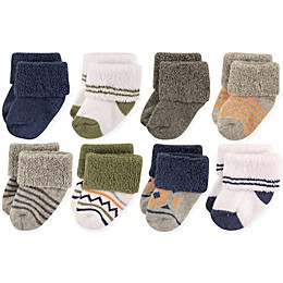 Luvable Friends® Size 6-12M 8-Pack Basic Cuff Socks in Aztec