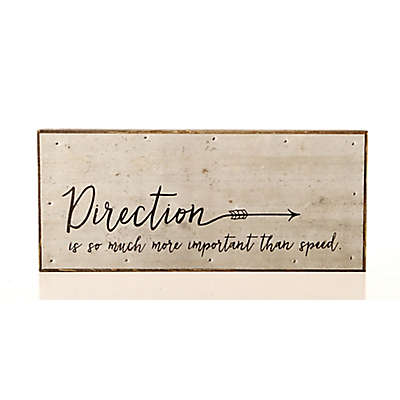 Second Nature By Hand Direction Speed 14-Inch x 6-Inch Reclaimed Steel Sign
