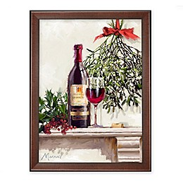 Americanflat Red Wine 21-Inch x 27-Inch Framed Wall Art