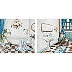 Traditional Bath 12-Inch x 24-Inch 2-Piece Canvas Wall Art