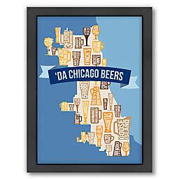 Americanflat Chicago Beers 26.5-Inch x 20.5-Inch Framed Wall Art
