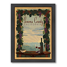 Americanflat Sonoma County California Framed Wall Art