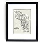 Historic Pictoric Buffalo Map 18-Inch x 22-Inch Framed Wall Art