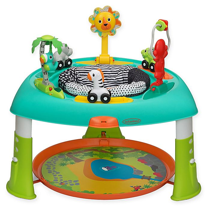 Alternate image 1 for Infantino® Sit, Spin & Stand Transforming Seat & Activity Table in Aqua