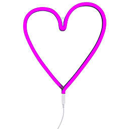 Neon-Style LED Heart Light in Pink
