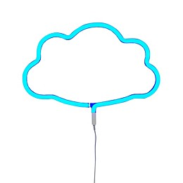 Neon-Style LED Cloud Light in Blue