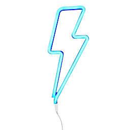 Neon-Style LED Lightning Bolt Light in Blue