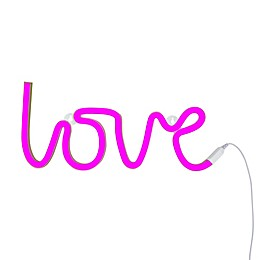 Neon-Style LED Love Light in Pink