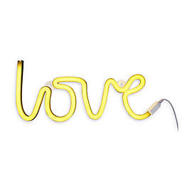 Neon-Style LED Love Light in Yellow