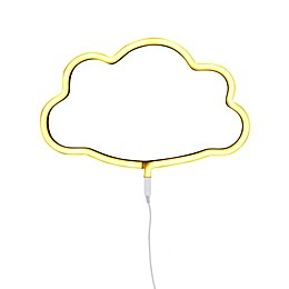 Neon-Style LED Cloud Light in Yellow