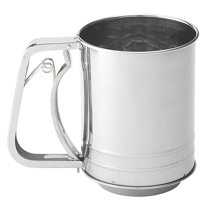 Alternate image 1 for Mrs. Anderson's Baking® 3-Cup Stainless Steel Squeeze Sifter