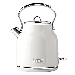 Haden Heritage 1.7-Liter Electric Kettle in Ivory White