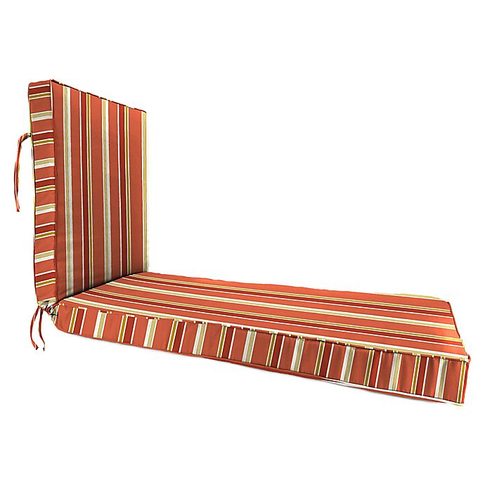 Alternate image 1 for Jordan Manufacturing Heatwave Stripe Outdoor Chaise Lounge Cushion in Orange/Multi