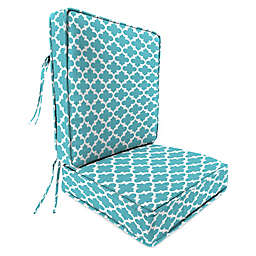 Print 2-Piece Deep Seat Chair Cushion