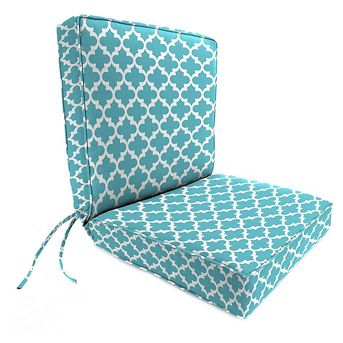 Alternate image 1 for Print 44-Inch Boxed Edge Dining Chair Cushion