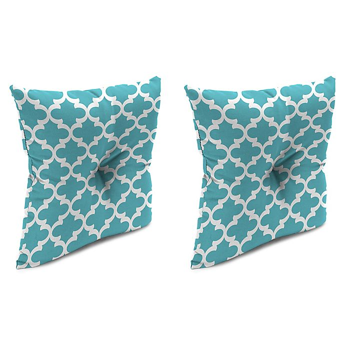 Alternate image 1 for Print 16-Inch Square Tufted Throw Pillows (Set of 2)
