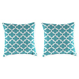 Jordan Manufacturing Floral Print 20-Inch Square Throw Pillows (Set of 2)