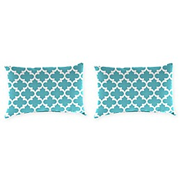 Print Outdoor Lumbar Throw Pillows (Set of 2)